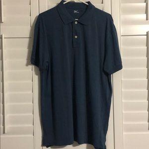 NWT Gap Pique Polo grey/blue Size XL